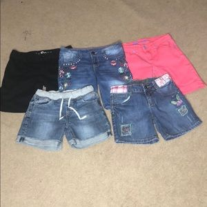 Girl's 5-piece Shorts Bundle, all size 10